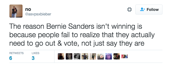 Bernie Supporter tweet
