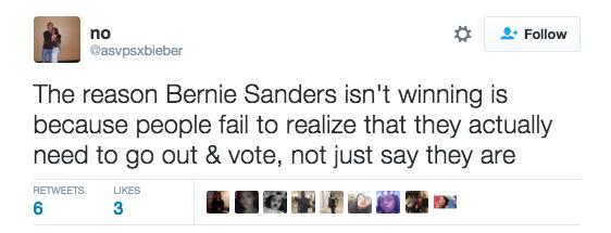 Bernie Supporter tweet
